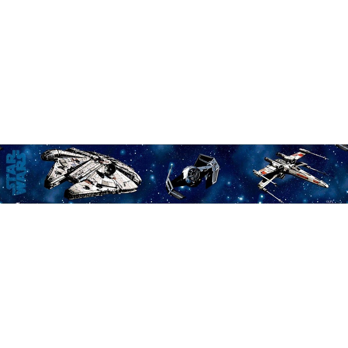 Blue bathroom wallpaper border - Star Wars Craft Self Adhesive Wallpaper Border 5m Boys Wallpaper