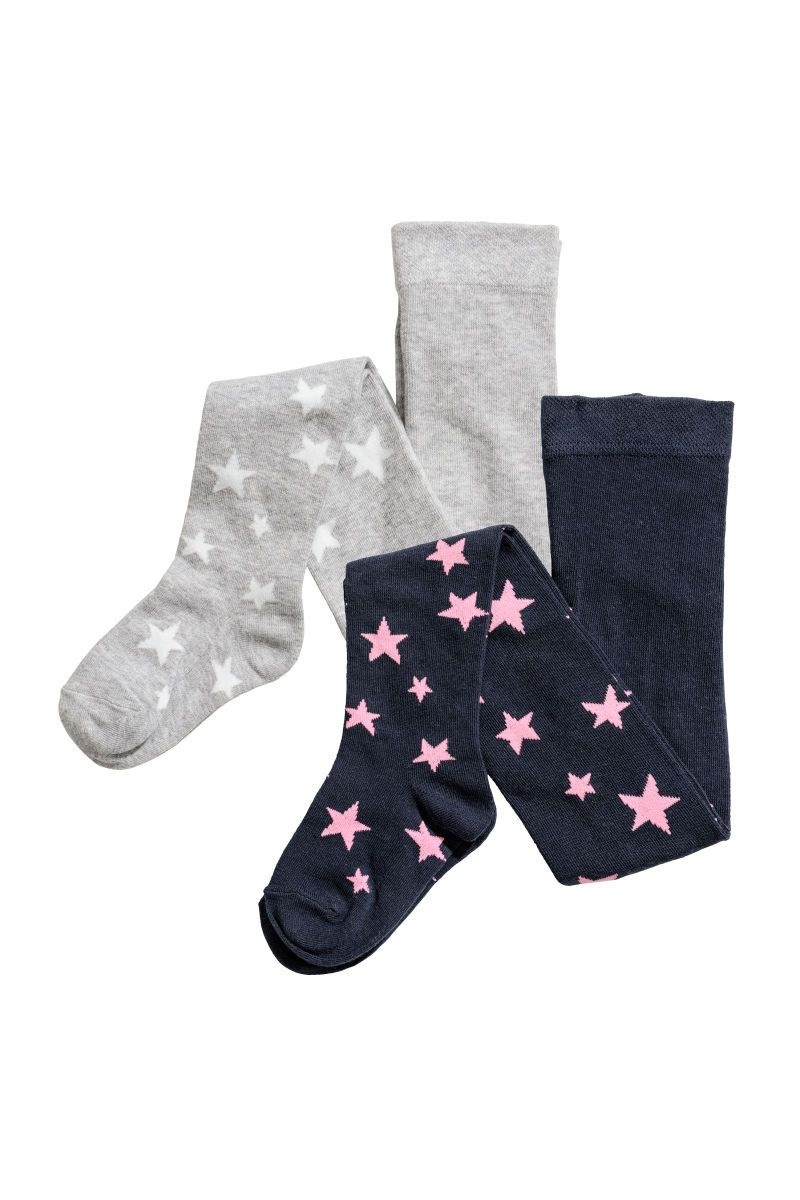 c99adb152ed22 2-pack Tights | Dark blue/stars | KIDS | H&M US | socks in 2019 ...