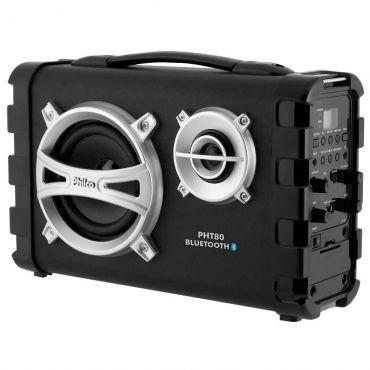 [Ricardo] Caixa Acústica PHT80 - 80W Bluetooth V2.1 + EDR, Entrada para Guitarra e USB, Rá