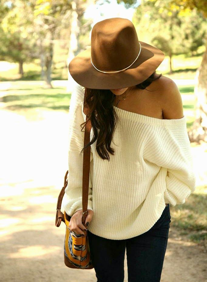 The Oversized Sweater, An Autumn Style Staple | Shoulder, Fedoras ...