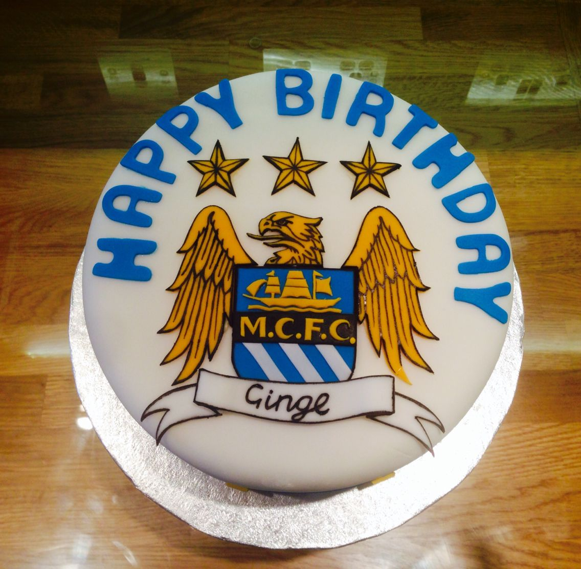 Birthday Cake Ideas For My Sister : Manchester City cake - Football themed birthday cake made ...