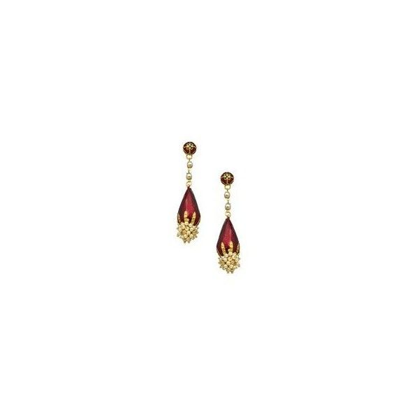 Preowned Victorian Garnet Pendant Earrings ❤ liked on Polyvore featuring jewelry, earrings, victorian garnet earrings, garnet jewellery, victorian jewellery, garnet earrings and dangling jewelry