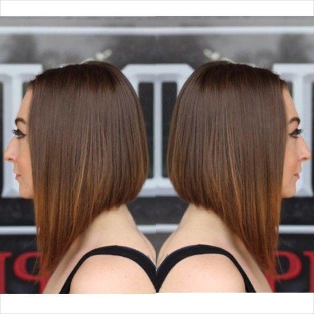 Corte de cabello largo enfrente corto atras