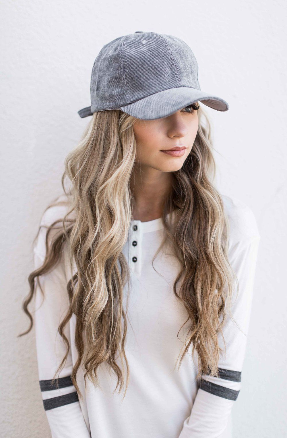 grey suede baseball cap  womensfashion  FashionTrendsForTeens White  Baseball Cap Outfit f048b384e220