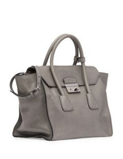 dd555d0df8a5e PRADA Glace Calf Large Twin Pocket Tote Bag