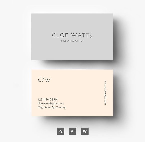 Modern Business card template by Emilyu0027s ART Boutique on - name card format
