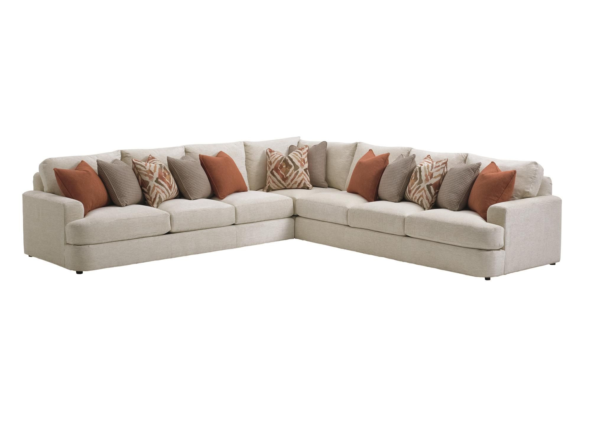 LAUREL CANYON Halandale Two Piece Sectional Sofa with Toss Pillows ...