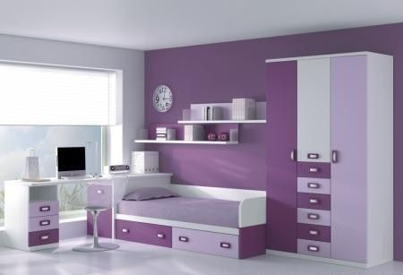 Dormitorios juveniles morados inspiraci n de dise o de interiores cuartos pinterest Colores para habitaciones juveniles femeninas