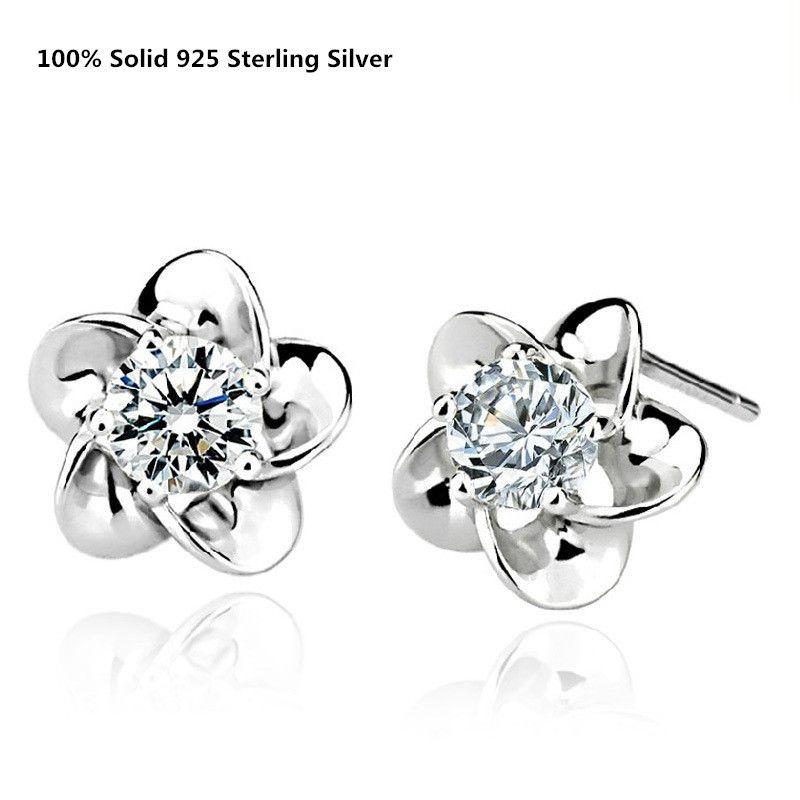 Miore Cubic Zirconia Sterling Silver 925 Stud Earrings TQCXorqVM
