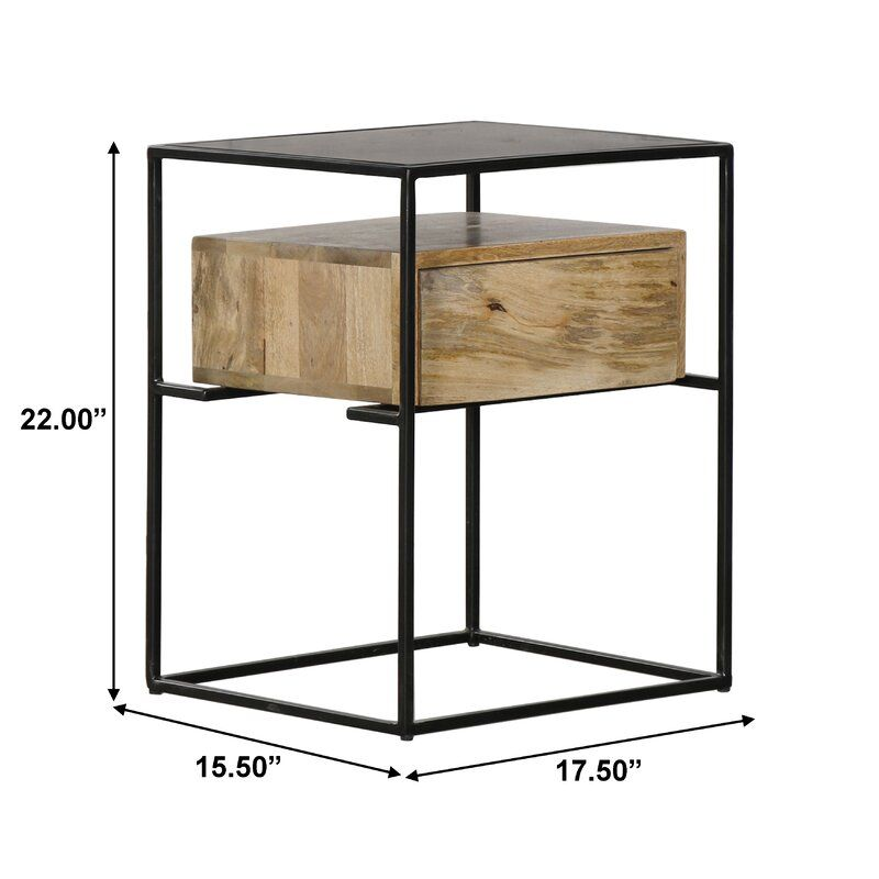Almaraz End Table With Storage In 2020 End Tables End Tables