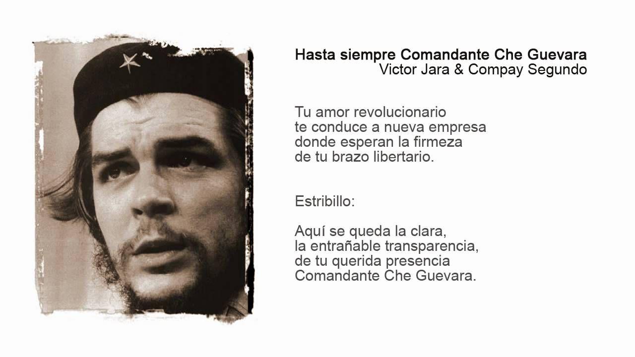 Hasta Siempre Comandante Che Guevara Ap Spanish Language Victor Jara Songs