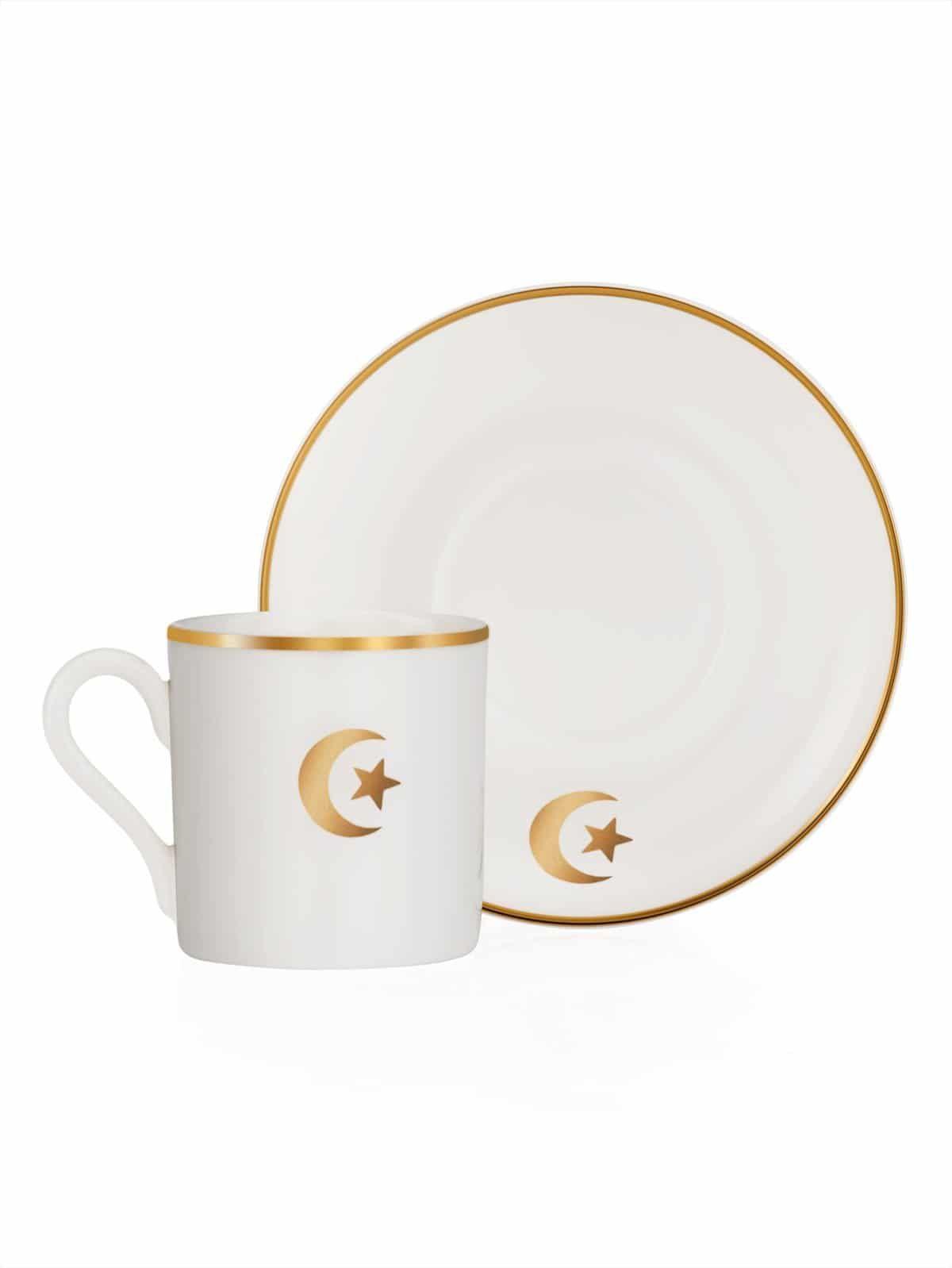 Buy golden turkish flag turkish coffee set for 2 grand