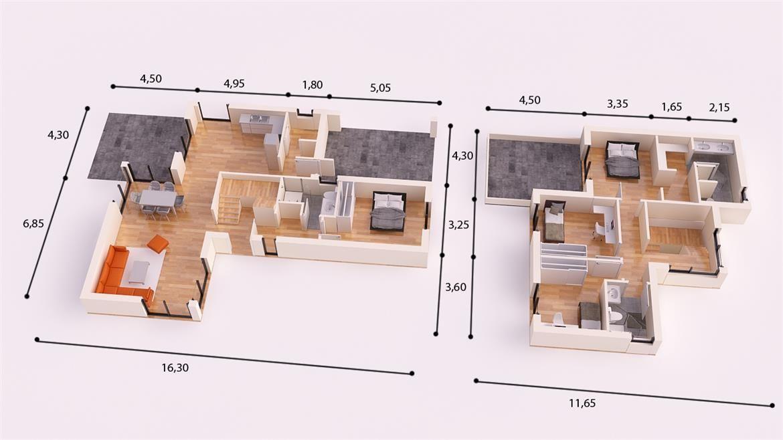 Sevilla donacasa 230m2 hormig n celular con trasdosado tejado plano espacios de distribucion - Casas modulares sevilla ...