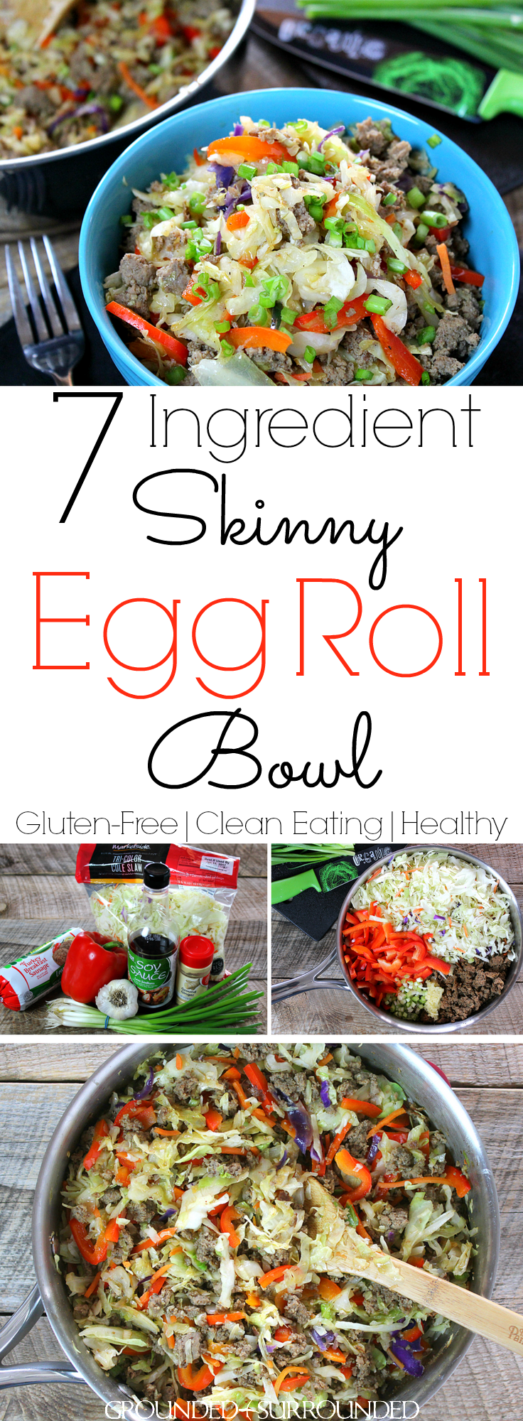 7 ingredient skinny eggroll bowl recipe healthy chinese 15 minute alternative to chinese takeout serve over brown rice forumfinder Choice Image