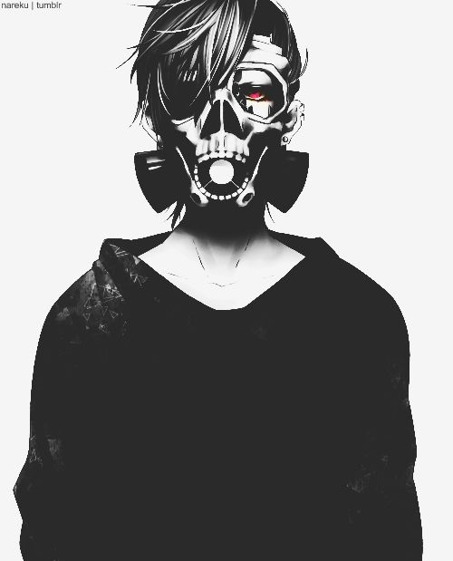 Gas Mask Anime Guy Artist Skull Mysteriously Vanished From Pixiv Anime Gas Mask Anime Artwork Anime Guys