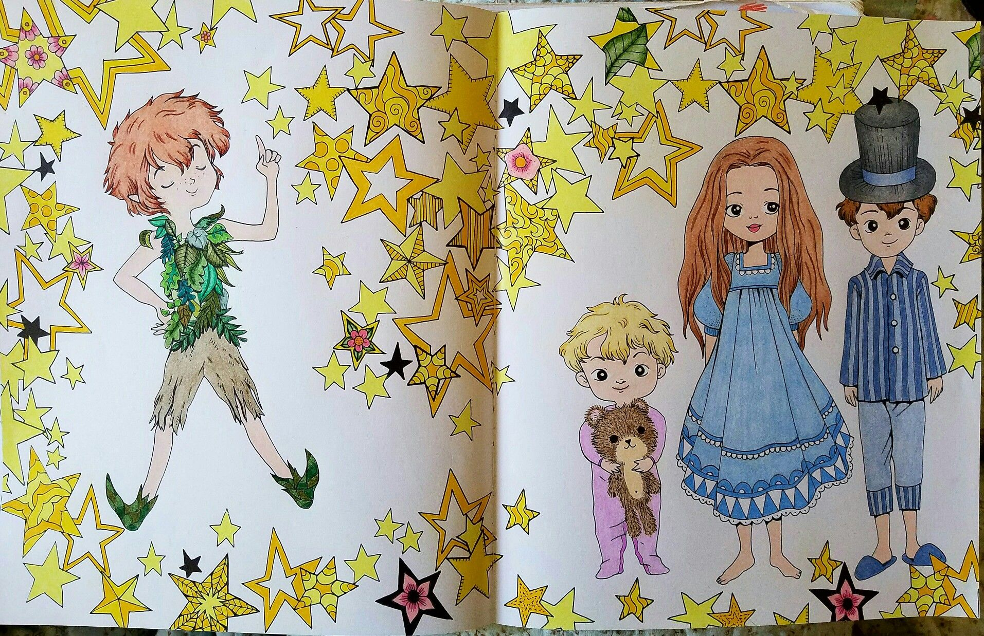 John, Michael, Wendy, & Peter Pan from Peter Pan by Fabiana ...