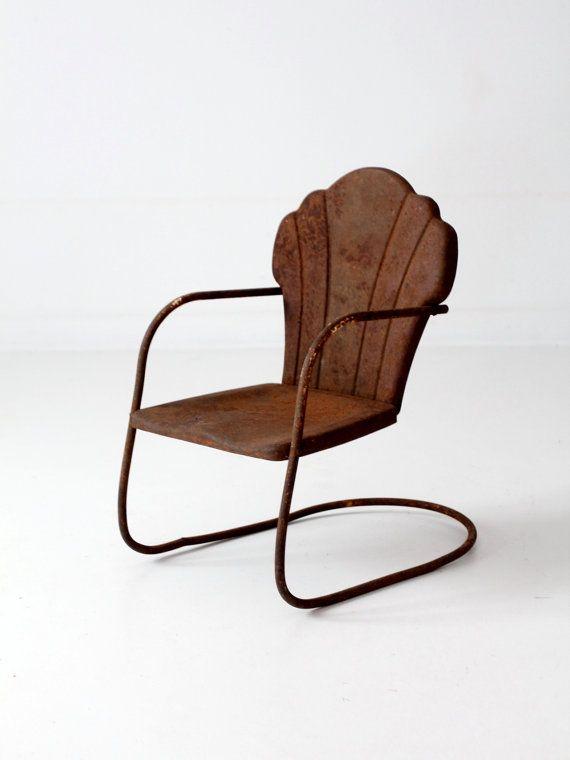 Peachy Vintage Childrens Lawn Chair Kids Shell Back Chair Short Links Chair Design For Home Short Linksinfo