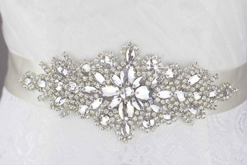 Details zu shiny weiß Transparent Gürtel Hochzeitskleid belt Strass ...