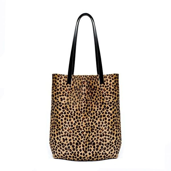 2ecb5043ea1b Sarah Baily - Lottie Shopper Leopard ( 380) ❤ liked on Polyvore featuring  bags