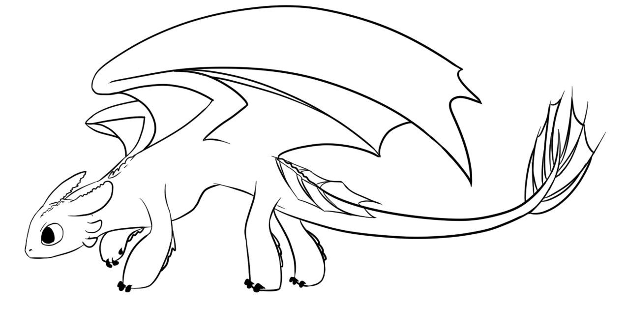 Free Nightfury Lineart By Cypeo Dragon Coloring Page Night Fury