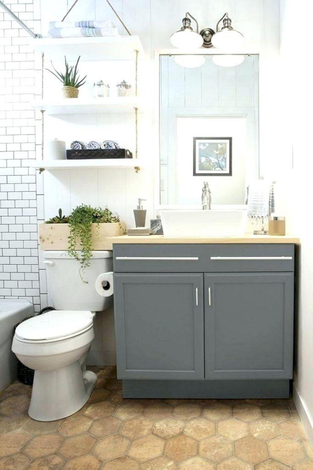 20 Impressive Small Bathroom Wall Storage Ideas Small Space Bathroom Small Space Bathroom Vanity Small Apartment Bathroom