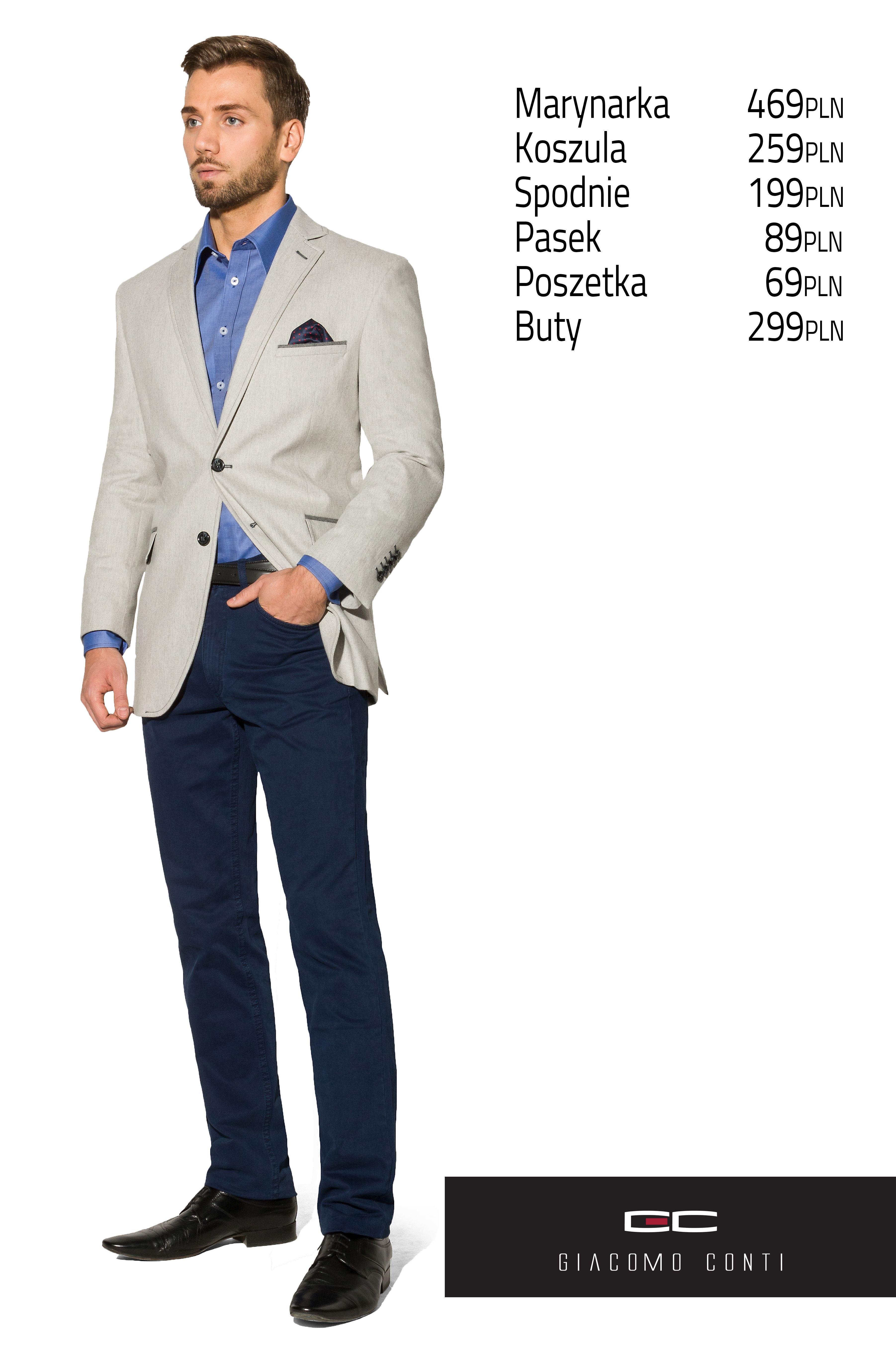 Stylizacja Giacomo Conti Ciemnoszara Marynarka Antonio 13 10sm Niebieska Koszula Antonio 13 10sm Granatowe Suit Jacket Jackets Single Breasted Suit Jacket