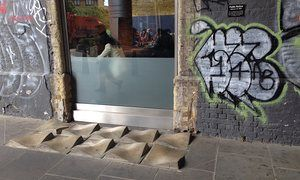 Share Photos Of Anti Homeless Spikes And Defensive Urban Architecture Urban Architecture Architecture Covered Walkway