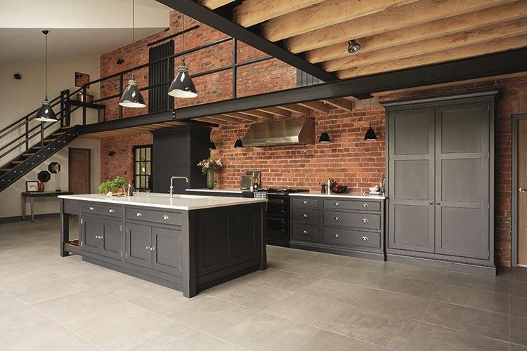 industrial style kitchen k che architektur und scheunen. Black Bedroom Furniture Sets. Home Design Ideas