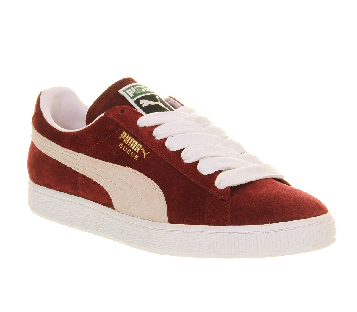 puma suede burgundy womens sneakers