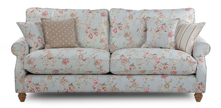 Grand Fl Sofa Country Style Shabby Chic Pinterest