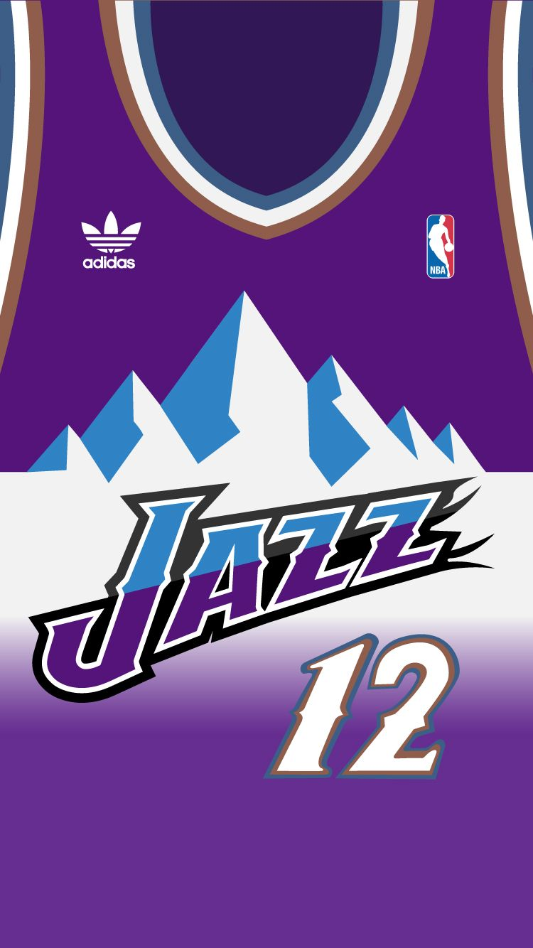 the best attitude bd8af d7bdc john stockton jersey mountains purple
