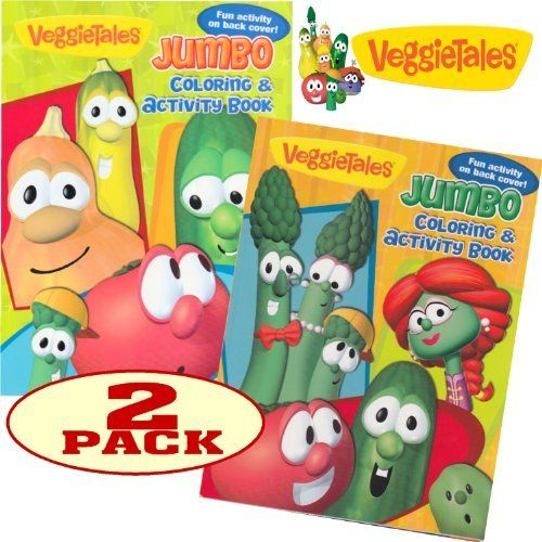 Veggie Tales Coloring and Activity Book Set (2 Books) by Veggie ...