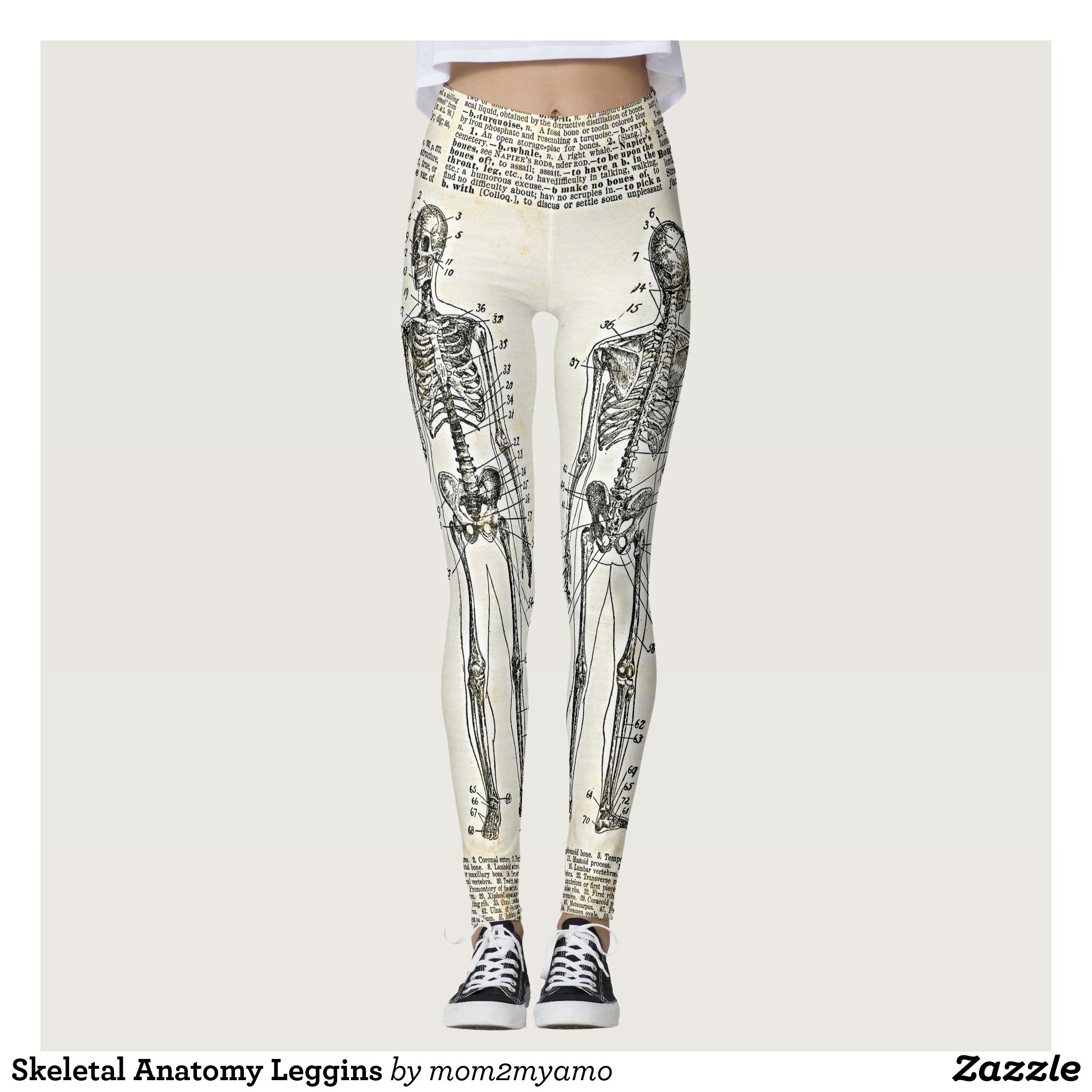 Skeletal Anatomy Leggins Leggings Running Tights Motivational