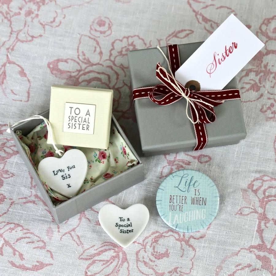 Happy birthday sister filled gift box special sister