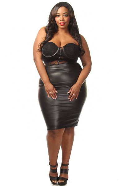 Plus Size Laced Corset Midi Dress