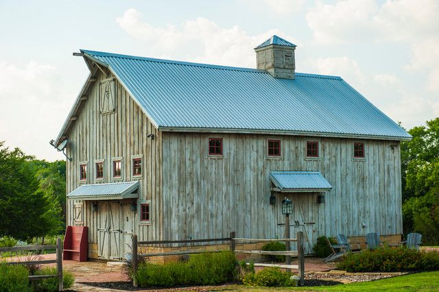 Corrugated Metal, Barn House, Corrugated Metal Roofing,   Traditional  Garage And Shed By