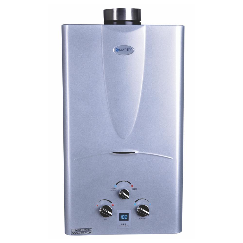 Marey 3 1 Gpm Liquid Propane Gas Digital Panel Tankless Water Heater Ga10lpdp Tankless Hot Water Heater Water Heating