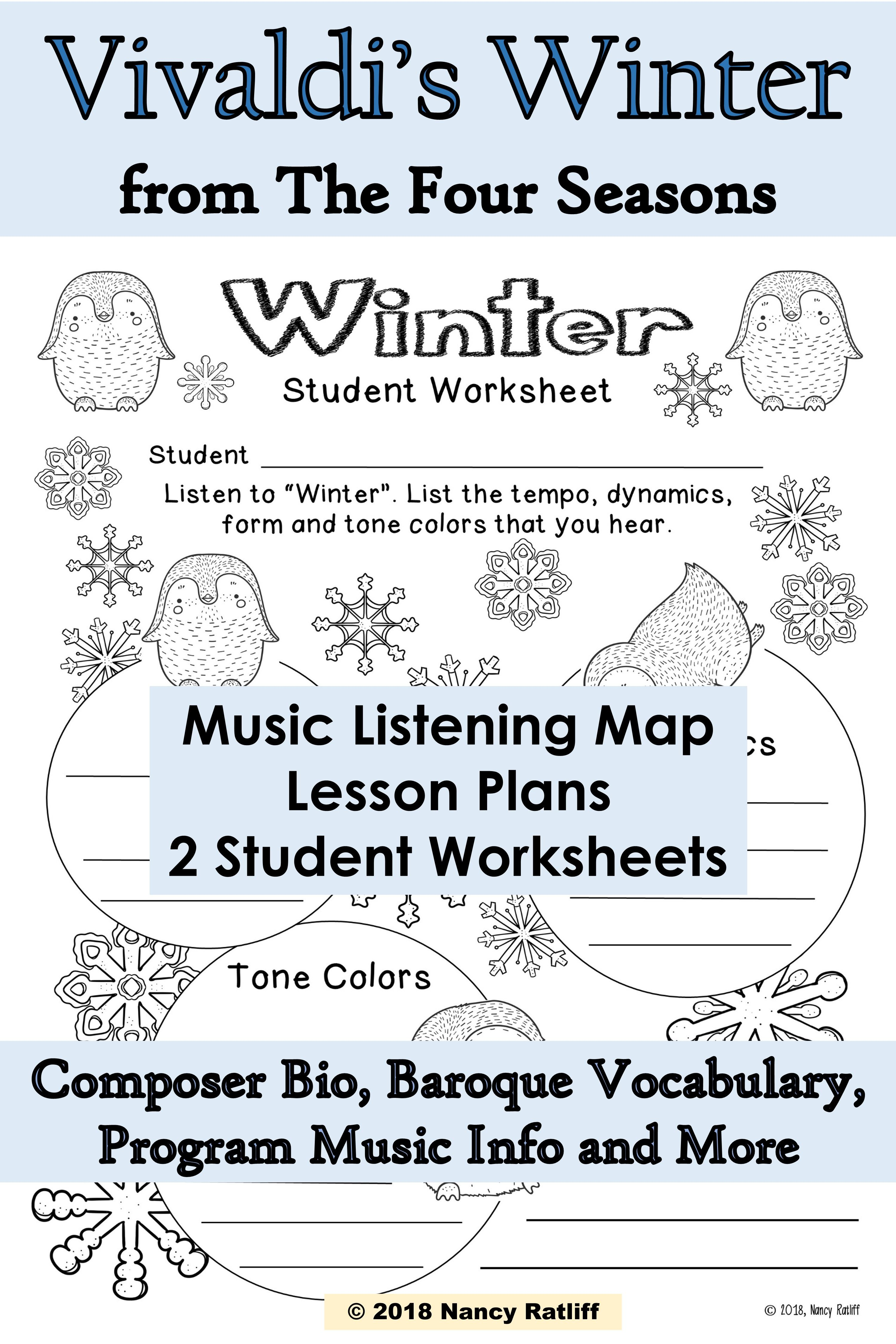 Vivaldi S Winter Music Listening And Mood Activity Sheets