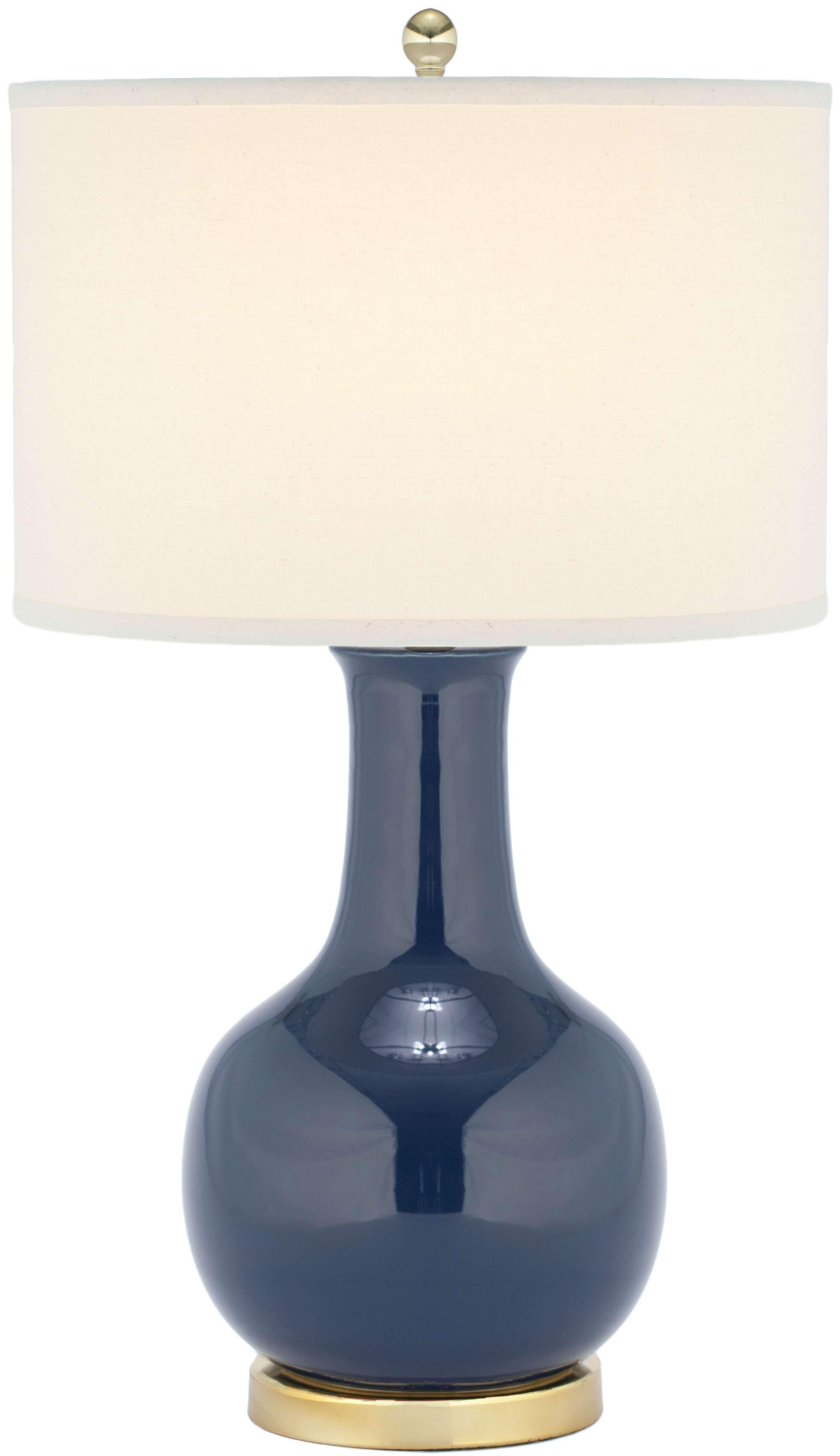 Safavieh Navy Blue 27 5 Ceramic Paris Lamp Goedekers Com Table Lamp Blue Table Lamp Lamps Living Room