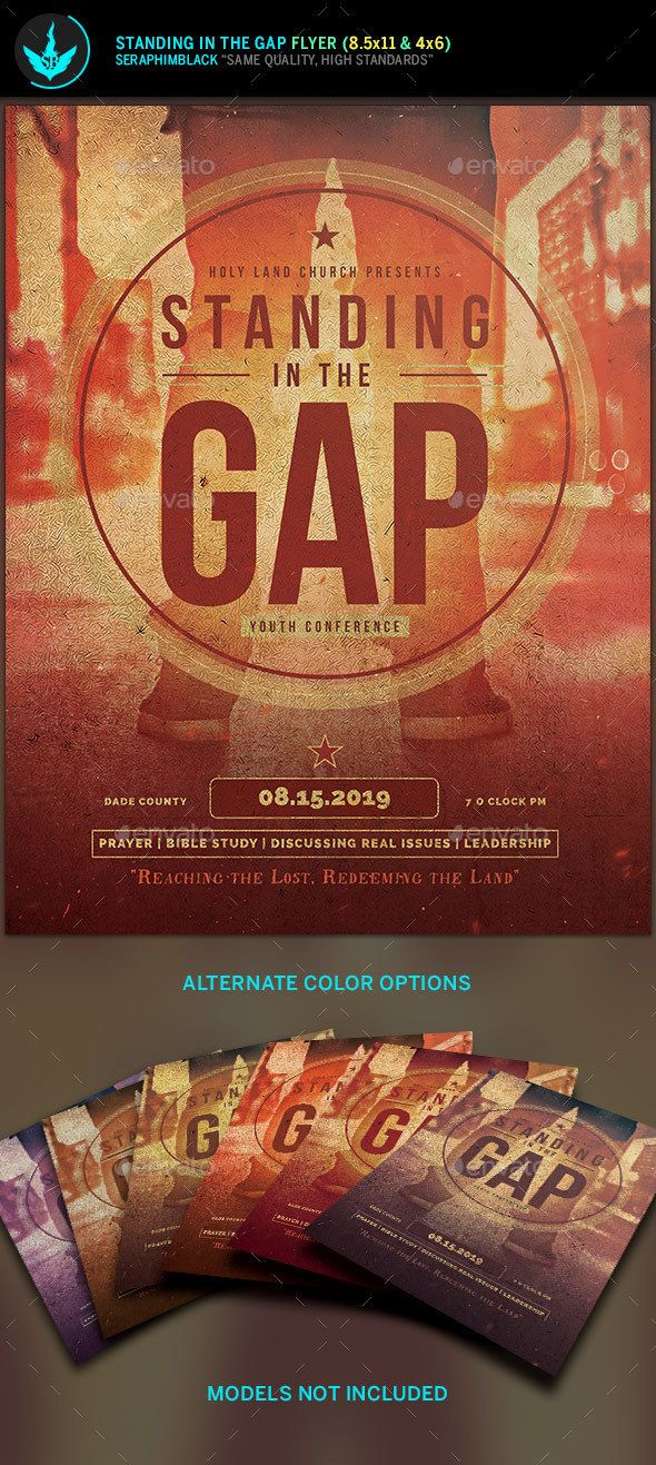 Standing in the Gap Church Flyer Template Flyer template, Clean - church flyer template