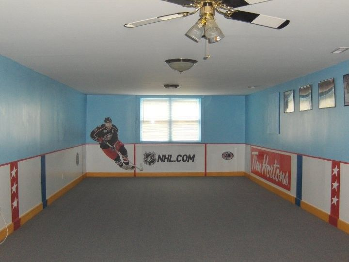 Awesome Doesn T Do This Pic Justice Boys Bedroom Scotia Bank And Canadian Tire Ads Would Be Cute Hockey Room Boys Hockey Bedroom Hockey Bedroom
