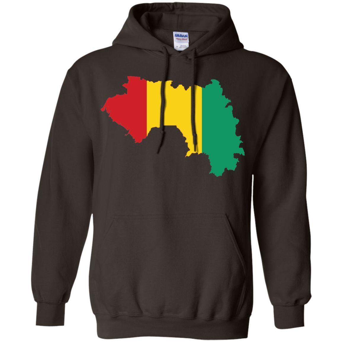 Guinea flag Pullover Hoodie 8 oz
