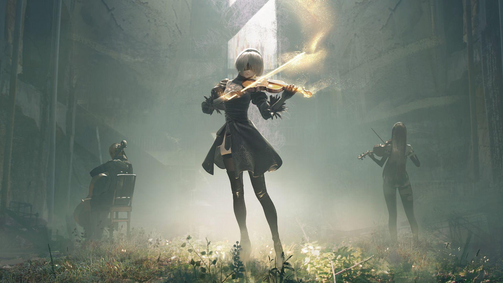 Nier 2b Playing Violin 1920x1081 Nier Automata Nier Automata Music Automata