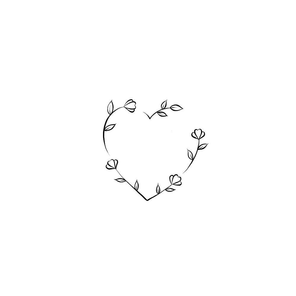 Photo of Heart Flower-Tattoo-Global Websites – Heart Flower Heart Flower, Art #Mini Tattoo …