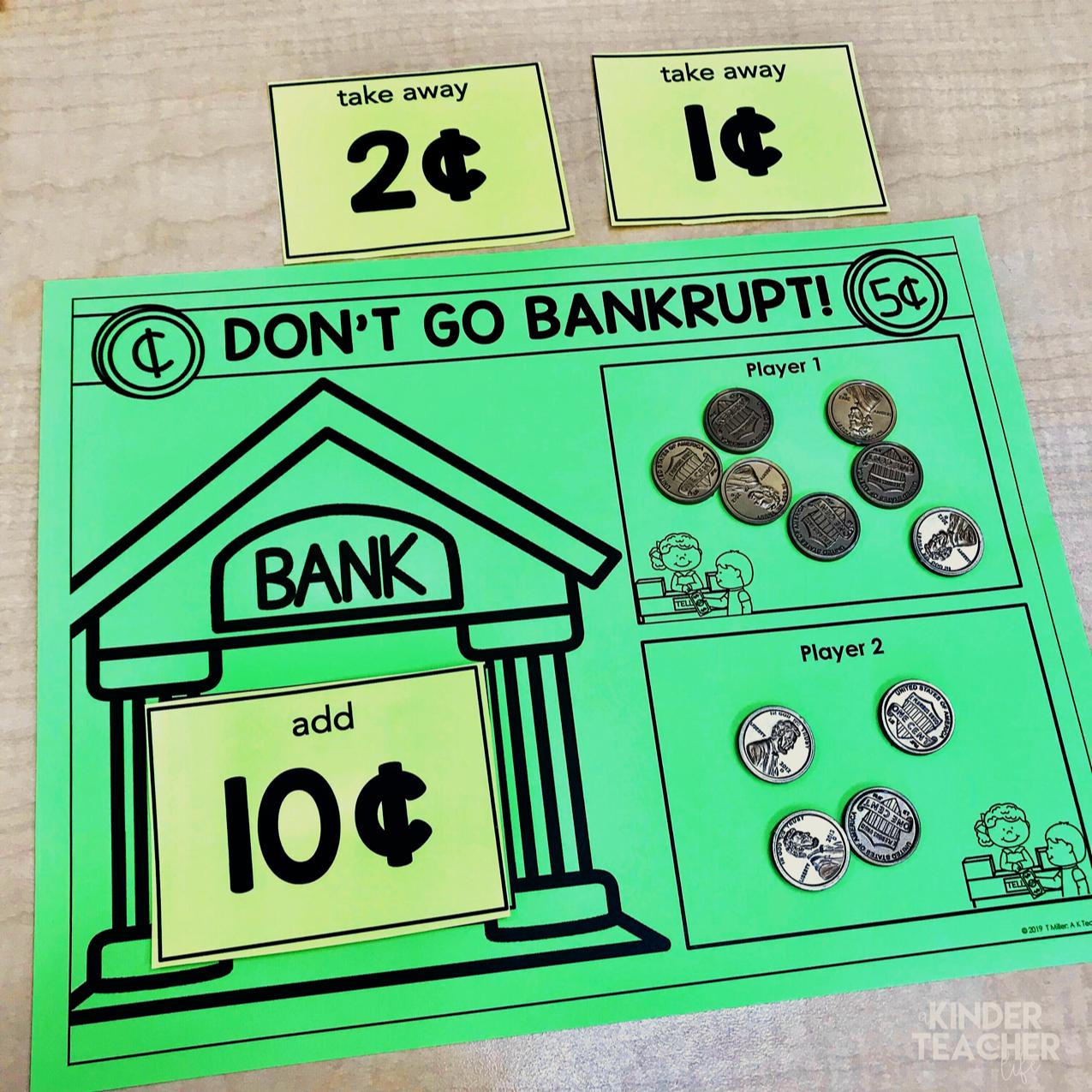 Money Math Center Activities For First Graders