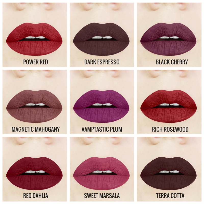 6befd33a8b6fd Aromi Dark Liquid Matte Lipstick Shades Each shade is vegan