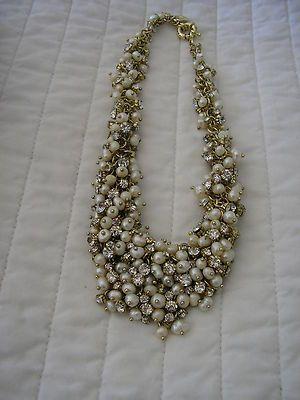J. Crew Pearl Bib Wedding Necklace