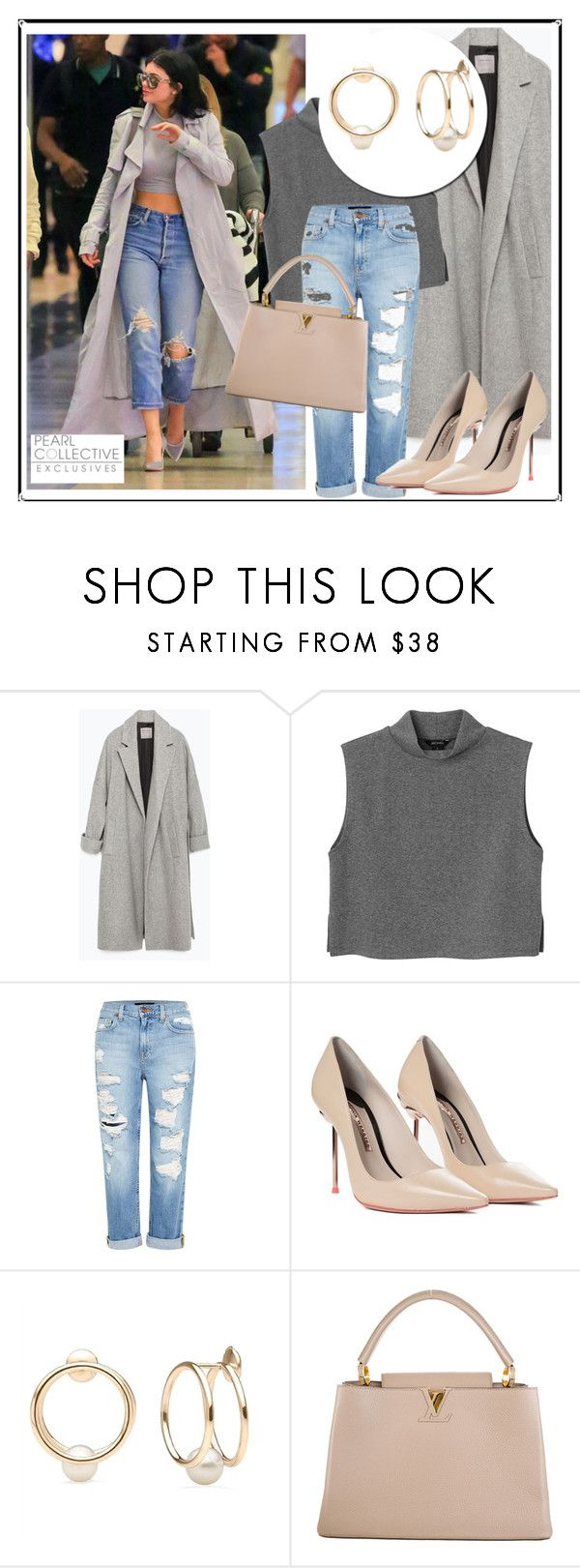 """""""SHOP - Pearl Collective - Earrings"""" by pearlcollective ❤ liked on Polyvore featuring Zara, Monki, Genetic Denim, Sophia Webster and Louis Vuitton"""