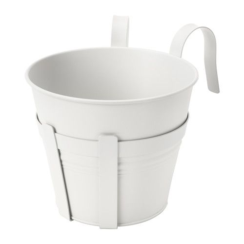 7 99 Ikea Socker Plant Pot With Holder You Can Hang The Flower Box And From A Balcony Rail Create Decorative Garden Even In Small
