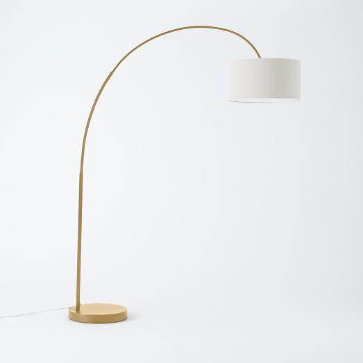 Overarching Floor Lamp Antique Brass West Elm 60 W X 19 D X 77